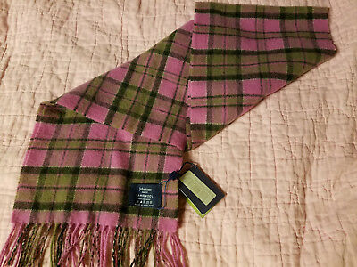 Johnstons Scarf 100% Lambswool from Scotland / Macdonnell plaid - new w/tag