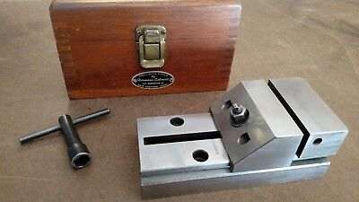 Hermann Schmidt Vise Toolmaker Machinist Wooden Box And Wrench