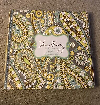 Vera Bradley Deluxe Photo Album - Retired Lemon Parfait