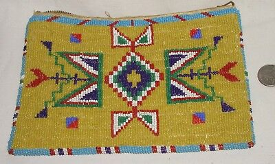 Fantastic! Vintage Sioux Indian Beaded Purse Bag