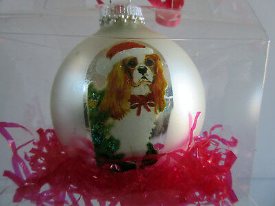 Cavalier King Charles Spaniel Christmas Holiday Ball Ornament By Ruth Maystead