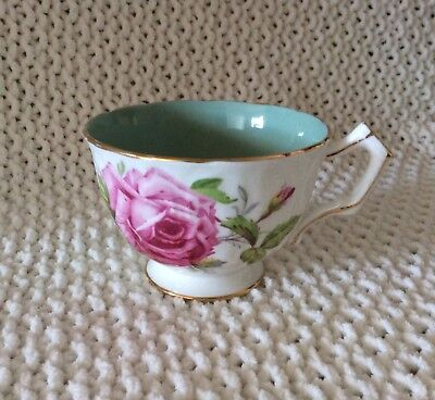 ADDERELY FINE BONE CHINA TEACUP Large pink rose -  highly collectable