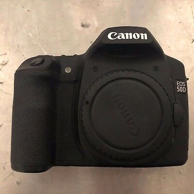 Canon EOS 50D 15.1MP Digital SLR Camera (Body Only) w/ 2 Batteries + Charger