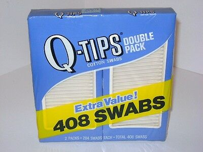 Vintage 1970's 80's Q Tips Cotton Swabs Double Pack in Factory Sealed Box NEW