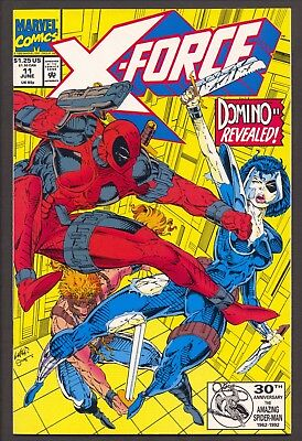"""New Mutants #100 & X-Force #8,11~1st X-Force~1st """"real"""" Domino~Deadpool~FN to NM"""