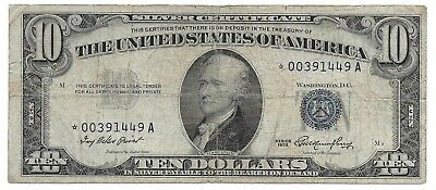 1953 $10 Ten Dollar Silver Certificate Star Note