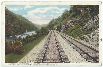 Southern Railway System Double Track Rock Ballast Vintage Postcard Tennessee Tn