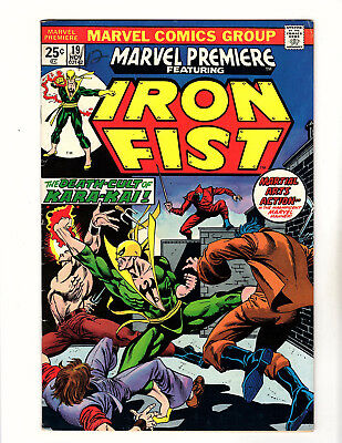 Marvel Premiere #19 (1974, Marvel) VG+ 1st App of Colleen Wing Netflix Iron Fist