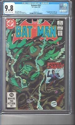 Batman #357 CGC 9.8 OW/White Pgs. Highest Graded Copy 1st Full App. Killer Croc