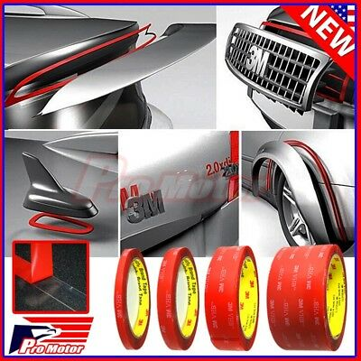 """3M VHB # 4910 Car Truck Auto Transparent Clear Double Sided Tape 1/4"""" 1/2"""" 1"""" 2"""""""