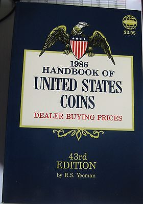 """1986 """"BLUEBOOK""""  43rd  EDITION BY R. S. YEOMAN"""