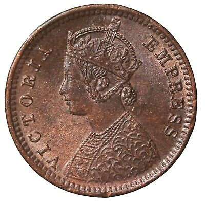 British India 1891-C Queen Victoria 1/12 Anna KM#483