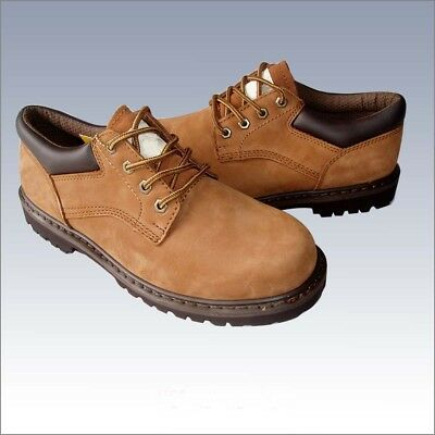"""New Men's """"Kingshow""""  4 Inch  Nubuck Lace Up Low Top Working Boots / Brown"""