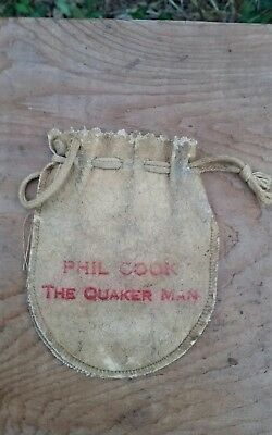 Phil Cook Promo Marbles Bag Pouch The Quaker Man Quaker Oats advertising