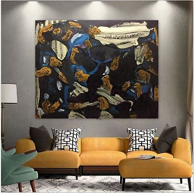 Blue Abstract Original Art Paintings Acrylic Huge 60 inches x 48 by Gerson