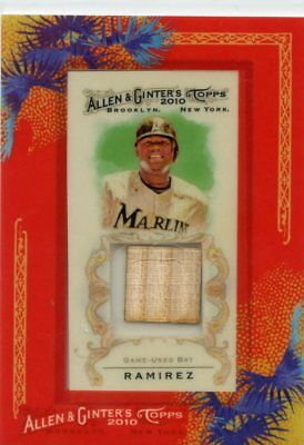 Hanley Ramirez 2010 Topps Allen & Ginter Framed Game-Used Bat Card
