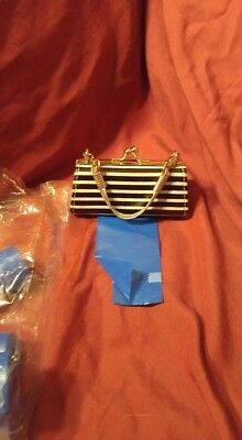 Fancy Metal Dog Clutch Purse Poop Bag Holder 5 extra rolls 100% to Collie Rescue