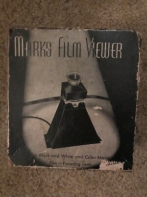 Marks Movie Viewer, Focusing Lens, Antique! Works!