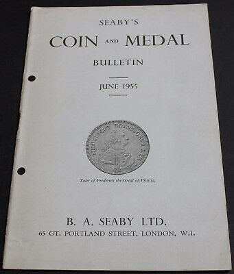 Seaby's Coin & Medal Bulletin 1955 Frederick The Great 1740-1786 + more Scarce