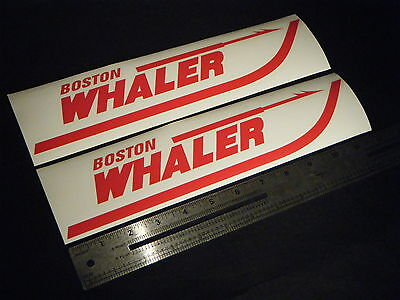 """Boston Whaler Red Decal 12"""" Stickers (Pair)"""