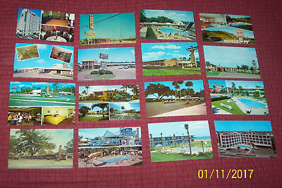 Lot of 16 Vintage Roadside Motel and Hotel Postcards - 1960s and 70s.