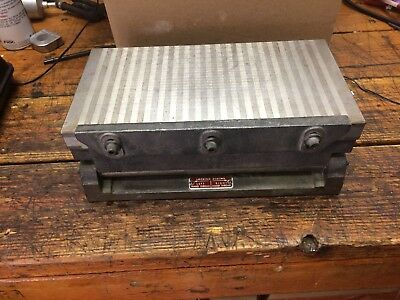 O.S. Walker 11 1/2x6 BXMY-398 Tilting Permanent Magnetic Chuck Surface Grinder
