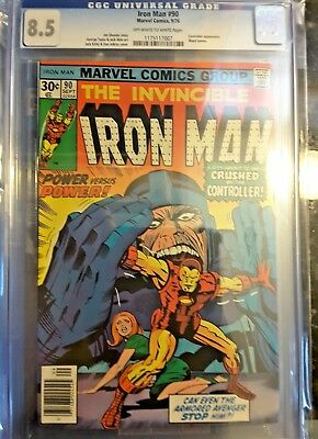 IRON MAN #90!! CGC 8.5 (Sep 1976, Marvel) FREE CGC BAGS (10) NO RESERVE!!