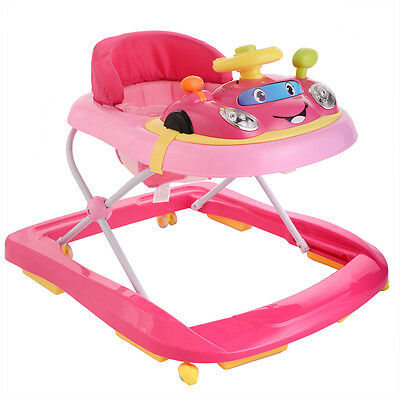 Baby Walker Bouncer Adjustable Activity Jumper Infant Toy Learning Seat Pink