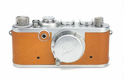 Leica If Replacement Cover - Laser Cut Genuine Goatskin - Pebble