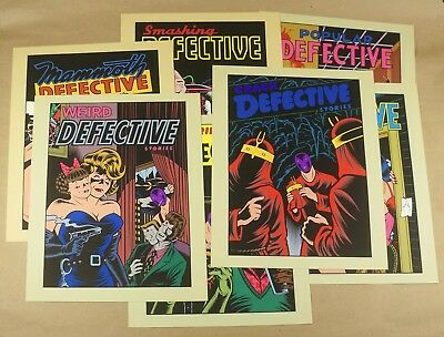 Charles Burns - Detective Stories, LImited Edition 7 Silkscreen Prints - Signed!