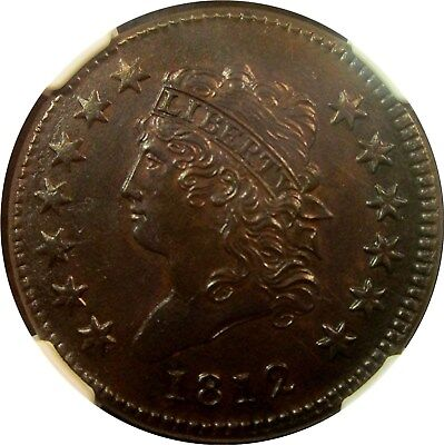 1812 Classic Head Large Cent **very Rare** +++ Certified Ngc Ms-Uncirculated +++