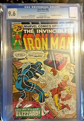 IRON MAN #86!! CGC 9.6!! GREAT COVER!! FREE CGC BAGS (10)!!! (May 1976, Marvel)