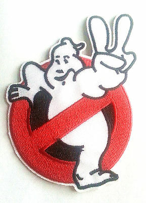 Ghostbusters movie 2 II No Ghosts Embroidered Iron On / Sew On Patch
