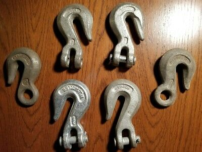 """Heavy Duty Forged 3/8"""" Chain Hooks Clevis Pin 5400lbs Rigging & Lifting"""