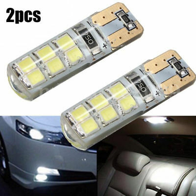 2pcs T10 194 W5W COB 2835 SMD 12LED Car CANBUS Super Bright License Light Bulb