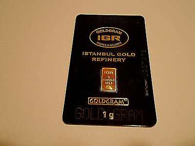 Gold Special Invest 1Gram New Sealed Solid Gold Bar