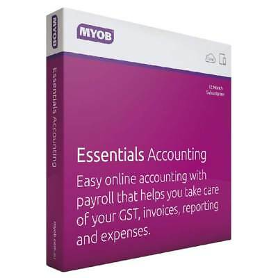 MYOB Essentials Acc with Payroll - 12 months (LVAC-FUL-AU-1-PYR0L-12MS)