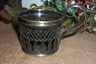 Antique Buch Brothers SILVER PLATED TEA GLASS Cup HOLDER Warsaw Poland ca1870s
