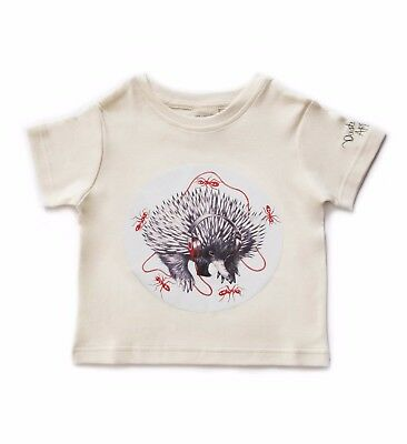 Organic Children's T Shirt, Echidna , Organic Kids Top, Animal | 3