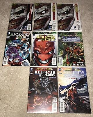 New 52 Death Of The Family Lot Batman Red Hood Teen Titans Suicide Squad