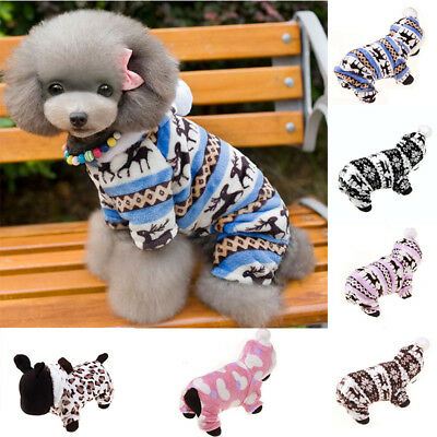 New Xmas Warm Small Pet Dog Cat Clothes Winter Puppy Apparel Coat Jacket Sweater