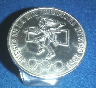 1968 Mexican SILVER 25 Pesos Olympic Commeritave 72% Silver Weighs 22.5  grams