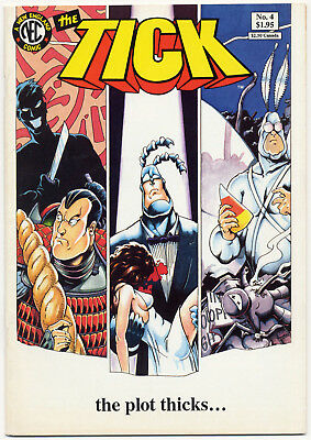 THE TICK #4 FIRST PRINT 1989 * VERY FINE * New England Comics NEC Ben Edlund