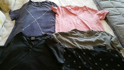 Mens T-Shirts Bulk Lot Of 4 - New (No Tags) Size Large Various Brands Free Post