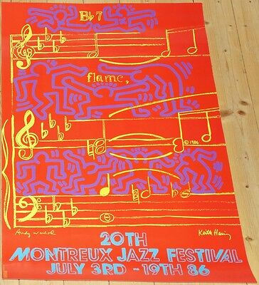 MONTREUX JAZZ FESTIVAL 1986 * Andy Warhol / Keith Haring * 33 / 24 poster