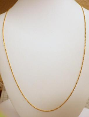 22KT 23KT Pure GOLD Chain Anchor link Necklace 5.715 GRAMS 29""
