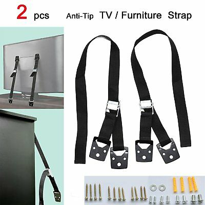 MySit Anti Tip TV Safety Strap and Furniture Straps, Hardware Included, All Meta
