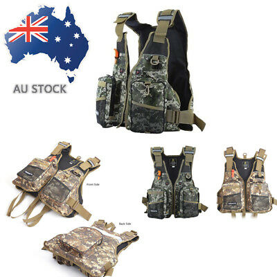 Emergency Life Jacket Camouflage Inflatable Swimming Surfing Ski Fishing Vest