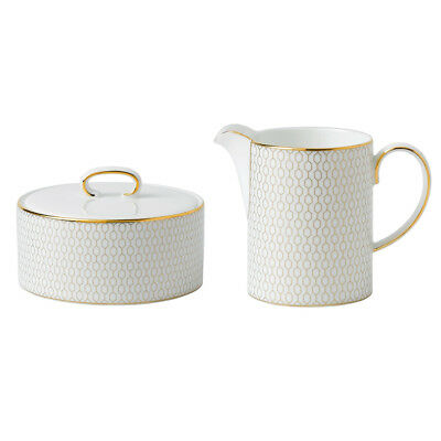 NEW Wedgwood Arris Covered Sugar Pot and Cream Jug Set 2pce