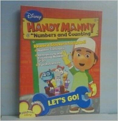 Handy Manny Workbooks w/Stickers - Numbers & Counting, Paperback